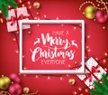 Have A Merry Christmas Everyone Greeting Typography Poster Inside Royalty Free Stock Photo