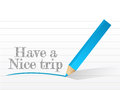 Have a nice trip message written on white piece of paper Royalty Free Stock Image