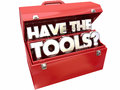 Have the Tools Question Expertise Necessary Toolbox Royalty Free Stock Photo