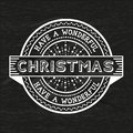 Have a wonderful christmas vintage badge vector illustration Royalty Free Stock Photos