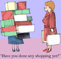 Have you done any shopping yet for holiday Royalty Free Stock Photo