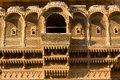 Haveli in jaisalmer rajasthan india palace of the maharajah the magnificent golden city the heart of surrounded by the desert of Stock Photos