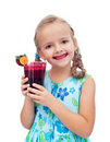 Having a freshly squeezed beetroot  juice Stock Photography