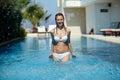 Having fun in pool Royalty Free Stock Images