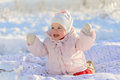 Having Fun in Snow Royalty Free Stock Photography