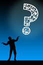 Having questions Royalty Free Stock Photo