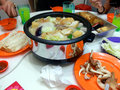 Having steamboat together asian food lunch dinner Stock Photography