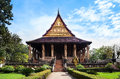 Haw phra kaew no attraction in vientiane laos emerald buddha temple is a former temple was built between and Stock Image