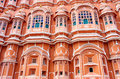 Hawa mahal palace in jaipur rajasthan of the winds india Stock Photography