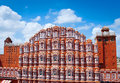 Hawa mahal palace palace of the winds jaipur rajasthan famous landmark india Royalty Free Stock Photos