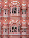 Hawa mahal pink palace view Royalty Free Stock Photo