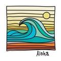 Hawaii beach, surfer poster