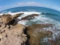 Hawaii coastal waters aerial view of Stock Photos