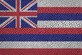 Hawaii flag painted on leather texture Royalty Free Stock Photo