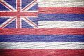 Hawaii flag painted on old wood plank texture Royalty Free Stock Photos