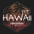 Hawaii Kapalua beach tee print with palm trees