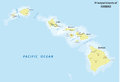 Hawaii map Royalty Free Stock Photo
