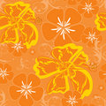 Hawaii orange pattern Royalty Free Stock Photography