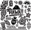 Hawaii Set Royalty Free Stock Images