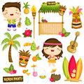 Hawaii Vector set Royalty Free Stock Photo