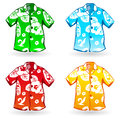 Hawaiian Aloha Shirts. Vector illustration Royalty Free Stock Image