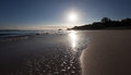 Hawaiian Beach Sunset Royalty Free Stock Photo