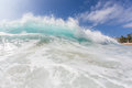 Hawaiian Bright Shorebreak Pacific ocean wave Royalty Free Stock Photo