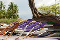 Hawaiian canoes Royalty Free Stock Photography
