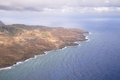 Hawaiian coastline an aerial view of the maui and bright blue water Stock Image