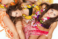 Hawaiian Hula Dancer Girls Royalty Free Stock Image