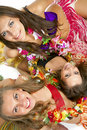 Hawaiian Hula Dancer Girls Royalty Free Stock Photos