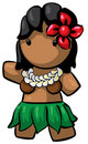 Hawaiian Hula girl Royalty Free Stock Photos