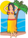 Hawaiian Hula Girl Royalty Free Stock Photography