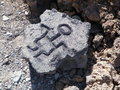 Hawaiian Petroglyph Carving Stock Photo