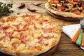 Hawaiian pizza Royalty Free Stock Photo