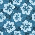 Havajský bezšvový vzor