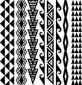 Hawaiian Seamless Tattoo Pattern Royalty Free Stock Photo