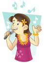 Hawaiian singer Royalty Free Stock Photography