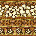 Hawaiian style background with hibiscus and turtles