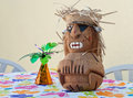 Hawaiian Table Tiki Man Royalty Free Stock Photos