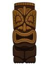 Hawaiian Tiki Statue Royalty Free Stock Photo