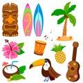 Hawaiian vector illustration collection