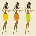 Hawaiian waitress (vector) Stock Photography