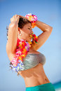 Hawaiian woman Stock Images