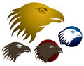Hawk eagle logo a predator or bird icon Royalty Free Stock Photos