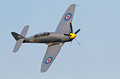 Hawker sea fury biggleswade uk july a of the royal naval historic flight approaches the old warden airfield before giving an Stock Image