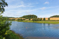 Hawkridge reservoir quantock hills somerset known for trout fishing Royalty Free Stock Image