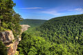 Hawksbill Crag Hiker Royalty Free Stock Photography