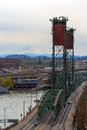 Hawthorne Bridge and Mount Hood View Royalty Free Stock Photo