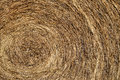 Hay bale image featuring a close up of a from a farmers field Stock Image
